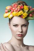 Beauty spring female portrait — Stock Photo