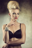 Aristocratic sexy girl in lingerie — Stock Photo