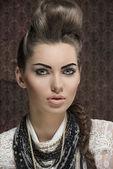 Close-up female fashion portrait — Stock Photo