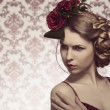 Stock Photo: Female with fashion romantic style