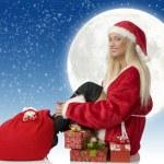 Santa claus sitting — Stock Photo #4705624