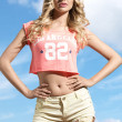 Amazing blonde summer girl — Stock Photo