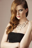 Elegant girl with necklace  — Foto de Stock
