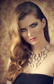 Beautiful female with charming look  — Stock Photo