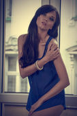 Sensual woman in indoor portrait  — Stock Photo