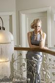 Blond woman indoor posing — Stock Photo