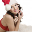 Smiling and pretty santa claus — Stock Photo #6708585