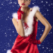 Red and sexy santa claus girl — Stock Photo #7381625