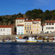 Panorama in the harbor of Port-Vendres — Stock Photo