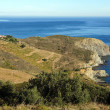View over a marine reserve in the Mediterranean sea - Stock Photo