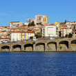 Coastal view of the town of Banyuls sur Mer - Stock Photo