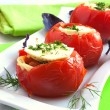 Stuffed tomatoes - Stock Photo