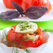 Stock Photo: Stuffed tomatoes closeup