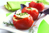 Stuffed tomatoes — Stock Photo