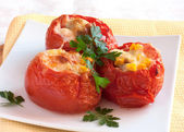 Stuffed tomatoes closeup — Stock Photo