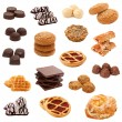 Stock Photo: Collection of sweets. Collage.
