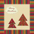 Christmas vintage greeting card — Stock Vector