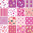 Set of kid seamless patterns - Stock Vector