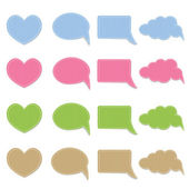 Set of vector fabric stickers — Stock Vector
