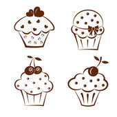 Cake icons. — Stock Vector