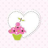 Cupcake background — Stock Vector
