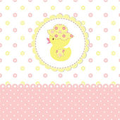 Baby shower with duckling — Stock Vector