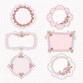 Doodle vintage frames — Stock Vector