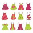 Baby Girl Dress Collection — Stock Vector #21225235