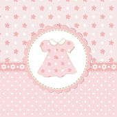 Baby girl shower with dress — Stock Vector