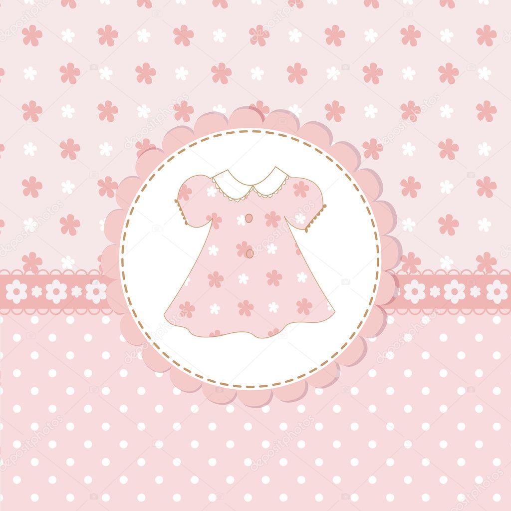 Baby girl shower with dress — Stock Vector © Annata78 ...