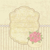 Vintage background with basket of flowers — Stock Vector