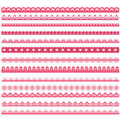 Set of laces — Stock Vector