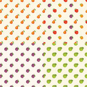 Fruit patterns — Stock Vector