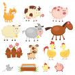 Farm animals — Stock Vector #25544807