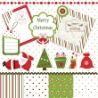 Christmas scrapbook set — Stock Vector