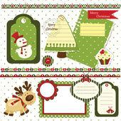 Christmas scrapbook set — Stock Vector