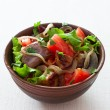 Salad with eggplants and tomatoes — Stock Photo