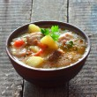Broth with vegetables — Stock Photo