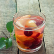 Glass of fruit compote — Stock Photo