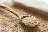 Brown uncut rice — Stock Photo