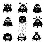 Set of cartoon monsters — Stock Vector #38167435