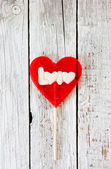 Valentines Day background with lollipop heart — Stock Photo