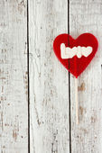 Valentines Day background with lollipop heart — Stockfoto