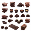 Chocolate collage — Stock Photo #39969329