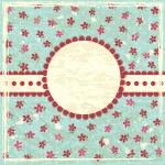 Vintage grunge floral background — Stock Vector