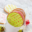 Colorful easter cookies and eggs — Stock Photo #40919227