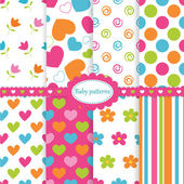 Set of baby patterns — Wektor stockowy