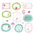 Set of doodle frames — Stock Vector
