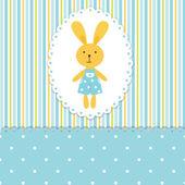 Baby background with rabbit — Stock Vector