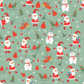 Vintage christmas naadloze patroon — Stockvector